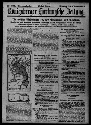 Königsberger Hartungsche Zeitung vom 29.10.1917