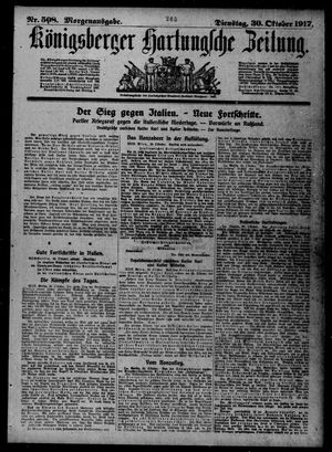 Königsberger Hartungsche Zeitung vom 30.10.1917