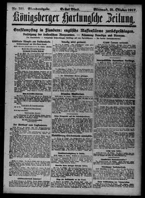 Königsberger Hartungsche Zeitung vom 31.10.1917
