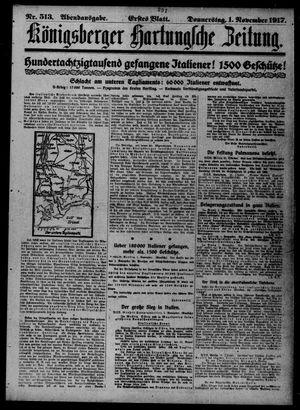 Königsberger Hartungsche Zeitung vom 01.11.1917