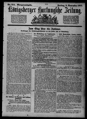 Königsberger Hartungsche Zeitung vom 02.11.1917