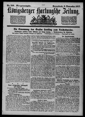 Königsberger Hartungsche Zeitung vom 03.11.1917