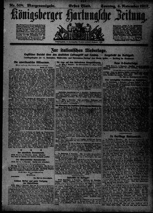 Königsberger Hartungsche Zeitung vom 04.11.1917