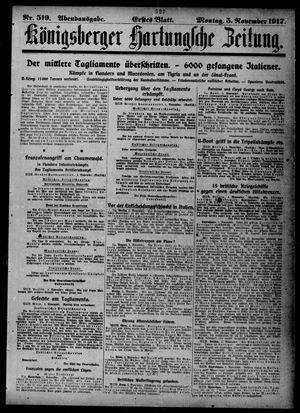 Königsberger Hartungsche Zeitung vom 05.11.1917