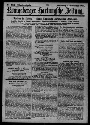 Königsberger Hartungsche Zeitung vom 07.11.1917