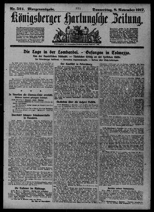 Königsberger Hartungsche Zeitung on Nov 8, 1917
