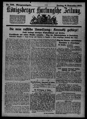 Königsberger Hartungsche Zeitung vom 09.11.1917