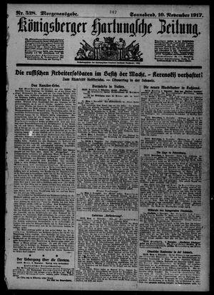 Königsberger Hartungsche Zeitung vom 10.11.1917