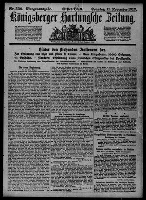 Königsberger Hartungsche Zeitung vom 11.11.1917