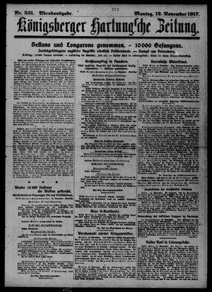 Königsberger Hartungsche Zeitung vom 12.11.1917