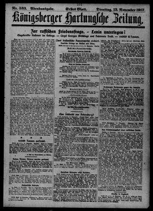 Königsberger Hartungsche Zeitung vom 13.11.1917