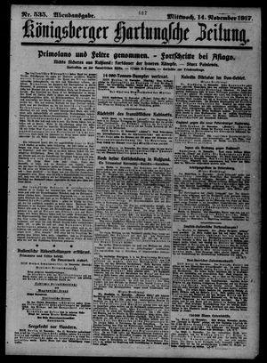 Königsberger Hartungsche Zeitung on Nov 14, 1917