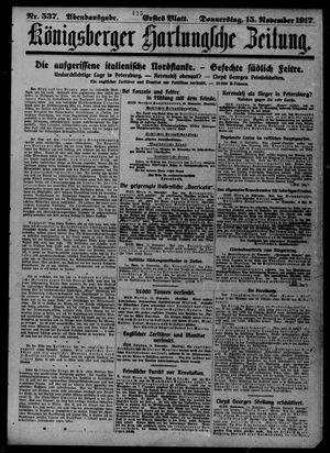 Königsberger Hartungsche Zeitung vom 15.11.1917