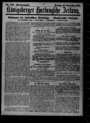 Königsberger Hartungsche Zeitung vom 16.11.1917