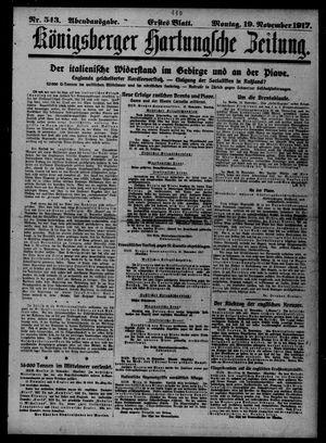 Königsberger Hartungsche Zeitung vom 19.11.1917