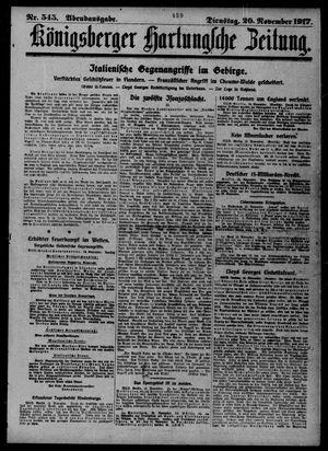 Königsberger Hartungsche Zeitung vom 20.11.1917