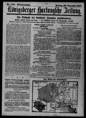 Königsberger Hartungsche Zeitung vom 23.11.1917