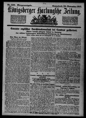 Königsberger Hartungsche Zeitung vom 24.11.1917