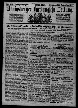 Königsberger Hartungsche Zeitung vom 25.11.1917