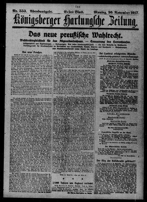 Königsberger Hartungsche Zeitung vom 26.11.1917