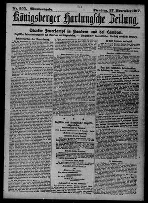 Königsberger Hartungsche Zeitung vom 27.11.1917
