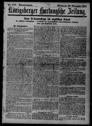 Königsberger Hartungsche Zeitung vom 28.11.1917