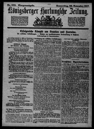 Königsberger Hartungsche Zeitung vom 29.11.1917