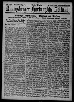 Königsberger Hartungsche Zeitung vom 30.11.1917