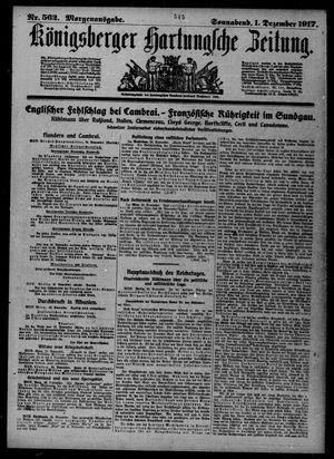 Königsberger Hartungsche Zeitung vom 01.12.1917