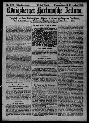Königsberger Hartungsche Zeitung vom 06.12.1917