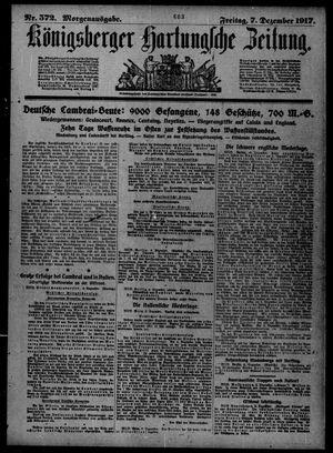 Königsberger Hartungsche Zeitung vom 07.12.1917