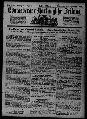 Königsberger Hartungsche Zeitung vom 09.12.1917