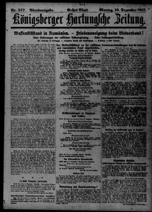 Königsberger Hartungsche Zeitung vom 10.12.1917
