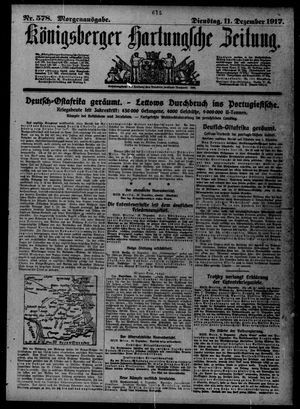Königsberger Hartungsche Zeitung vom 11.12.1917