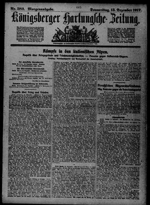 Königsberger Hartungsche Zeitung vom 13.12.1917