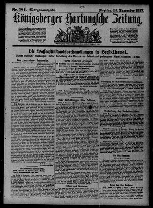 Königsberger Hartungsche Zeitung vom 14.12.1917