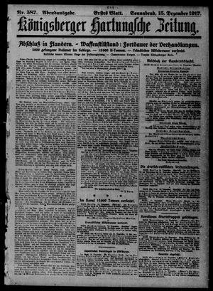 Königsberger Hartungsche Zeitung vom 15.12.1917