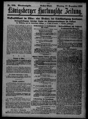 Königsberger Hartungsche Zeitung vom 17.12.1917