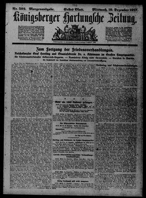 Königsberger Hartungsche Zeitung vom 19.12.1917