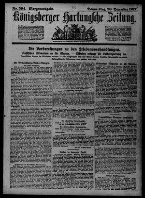 Königsberger Hartungsche Zeitung vom 20.12.1917