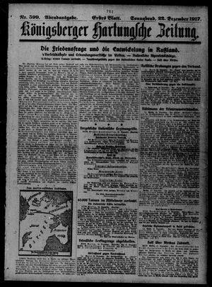 Königsberger Hartungsche Zeitung vom 22.12.1917
