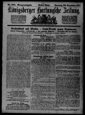 Königsberger Hartungsche Zeitung vom 23.12.1917