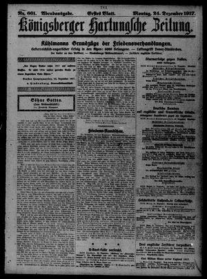 Königsberger Hartungsche Zeitung vom 24.12.1917