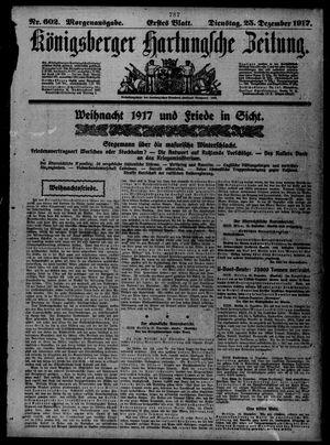 Königsberger Hartungsche Zeitung vom 25.12.1917