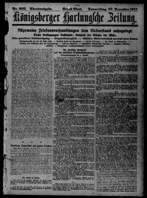 Königsberger Hartungsche Zeitung vom 27.12.1917