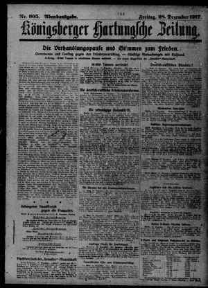 Königsberger Hartungsche Zeitung vom 28.12.1917