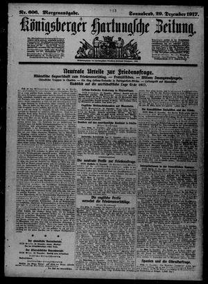 Königsberger Hartungsche Zeitung vom 29.12.1917