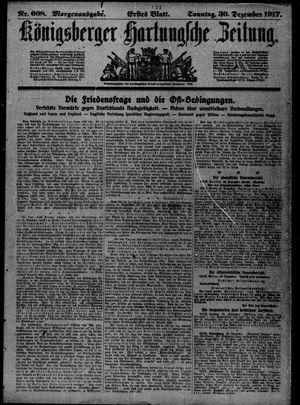 Königsberger Hartungsche Zeitung vom 30.12.1917
