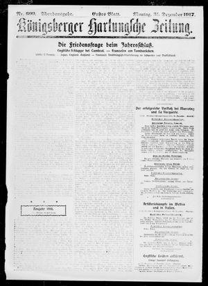 Königsberger Hartungsche Zeitung vom 31.12.1917