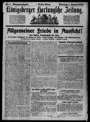 Königsberger Hartungsche Zeitung vom 01.01.1918